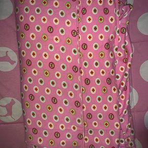 PINK twin size flat sheet.